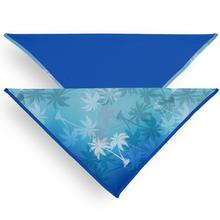 Playa Pup UPF50+ Reversible Dog Bandana - Palm Tree Blue/Royal Blue