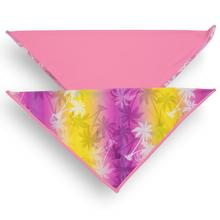 Playa Pup UPF50+ Reversible Dog Bandana - Palm Tree Pink/Dalia