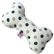 Plush Bone Dog Toy - Beach Dots