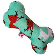 Plush Bone Dog Toy - Reindeer Folly