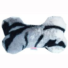 Plush Bone Dog Toy - Siberian Tiger