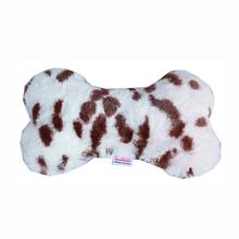 Plush Bone Dog Toy - Snow Leopard