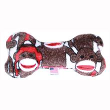 Plush Bone Dog Toy - Sock Monkey