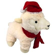 Plush Christmas Lamb Dog Toy