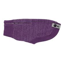 Polaris Reflective Dog Sweater - Plum Purple
