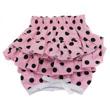 Polka Dot Ruffles Dog Panties by Doggie Design - Pink and Black