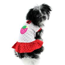 Polka Dots Strawberry Dog Dress by Klippo