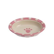 Polka Paws Dog and Cat Bowl - Pink