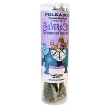 Polkadog Holiday Tube Silver & Gold Dog Treat - Cod Skin
