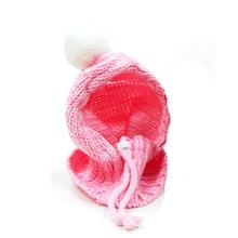 Pom Sweater Dog Hat by Dogo - Pink