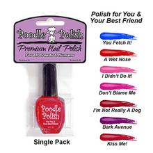 Poodle Polish Dog Nail Polish - Blue - You Fetch It!