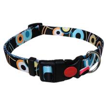 Pop Circle Dog Collar - Black