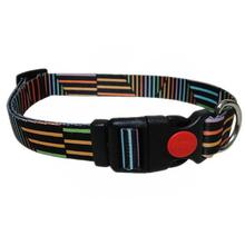 Pop Stripe Dog Collar - Black