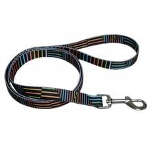 Pop Stripe 5' Dog Leash - Black