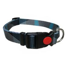 Pop Stripe Waves Dog Collar - Blue