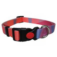 Pop Stripe Waves Dog Collar by Cha-Cha Couture - Pink