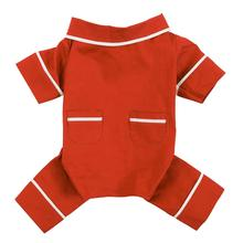 Poplin Dog Pajamas by fabdog® - Red