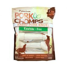 Pork Chomps Baked Knotz Bone Dog Treats - Pork Skin