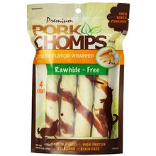 Pork Chomps Large Twists Dog Treats - Chicken