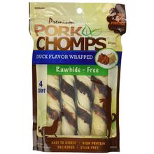 Pork Chomps Large Twists Dog Treats - Duck