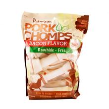 Pork Chomps Baked Knot Bone Dog Treats - Bacon