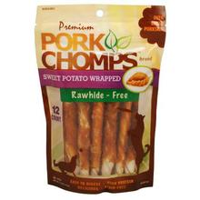 Pork Chomps Mini Twists Dog Treats - Sweet Potato