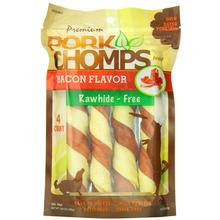 Pork Chomps Twists Dog Treats - Bacon