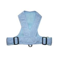 Precision Fit Gingham Dog Harness - Blue