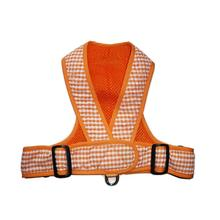 Precision Fit Gingham Dog Harness - Orange