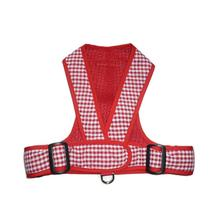 Precision Fit Gingham Dog Harness - Red
