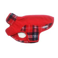 Precision Fit Sport Fleece Dog Coat By My Canine Kids  - Red Plaid