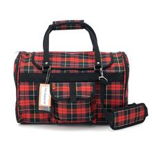 Prefer Pets Hideaway Duffel Dog Carrier - Red Plaid