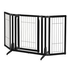 Premium Plus Freestanding Dog Gate - Black