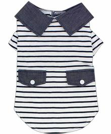 Preppy Boy Dog Polo by Parisian Pet - Striped