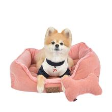 Presley Dog Bed By Puppia - Peach