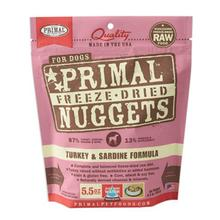 Primal Canine Freeze Dried Nuggets Dog Treat - Turkey & Sardine