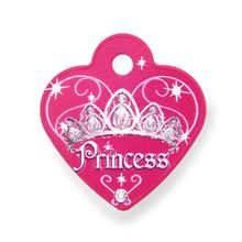 Princess Heart Small Engravable Pet I.D. Tag