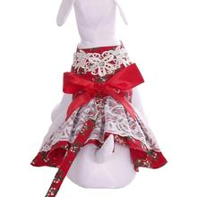 Peppermint Gal Holiday Dog Harness Dress by Cha-Cha Couture