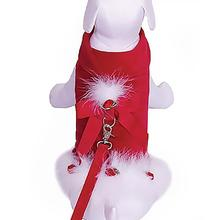 Princess Holiday Dog Harness Jacket with Leash - Red Velvet