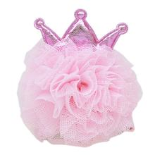 Princess Puff Dog Bow - Light Pink