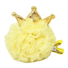 Princess Puff Dog Bow - Yellow