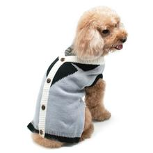 Professor Cardigan Dog Sweater by Dogo - Gray