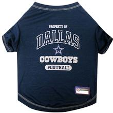 Property Of Dallas Cowboys Dog T-Shirt - Blue