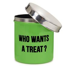 Proselect Chitchat Stainless Dog Treat Canister - Green