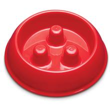 ProSelect Plastic Slow Feeder Dog Bowl - Red
