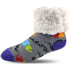 Pudus Human Slipper Socks - Cat Gray