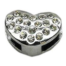 Puffy Heart Slider Dog Collar Charm - Clear