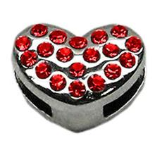 Puffy Heart Slider Dog Collar Charm - Red