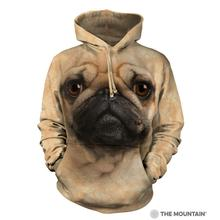 Pug Face Human Hoodie by The Mountain