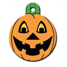 Pumpkin Engravable Pet I.D. Tag